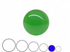 Jac Products Emerald Green Translucent 70mm Acrylic Contact Ball